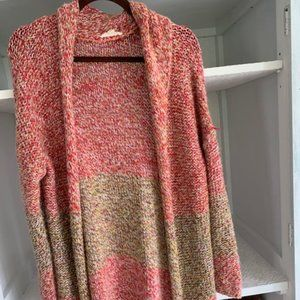 Tulle multicolored cardigan sweater